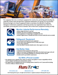 Heavy Equipment Rental Feature Sheet Cover