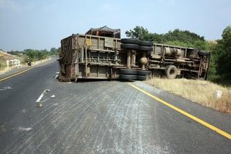 Overturned_Truck_Tire_Tracks_Hard_Braking_Skid_Traffic_accident