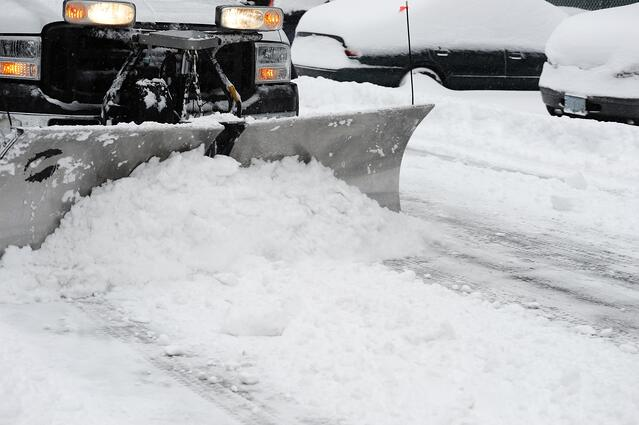 GPS tracking can help to optimize plow routes in winter.