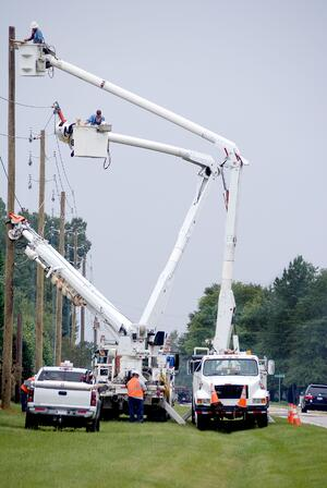 Utility companies have to frequently service their infrastructure to keep it running smoothly.